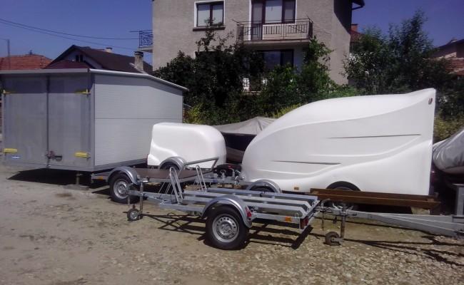 производство продажба сервиз изработка на каравани ремаркета за лодки платформи за яхти джетове регистрация