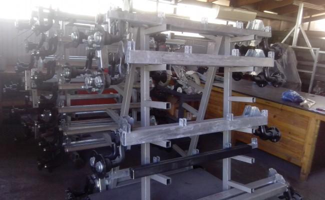 vânzare de axe pentru remorci cu pernă de aer și semi-conductori face frâne de aer pentru remorci si rulote