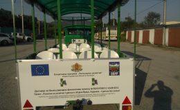 Доставка на два броя туристически влакчета община Враца